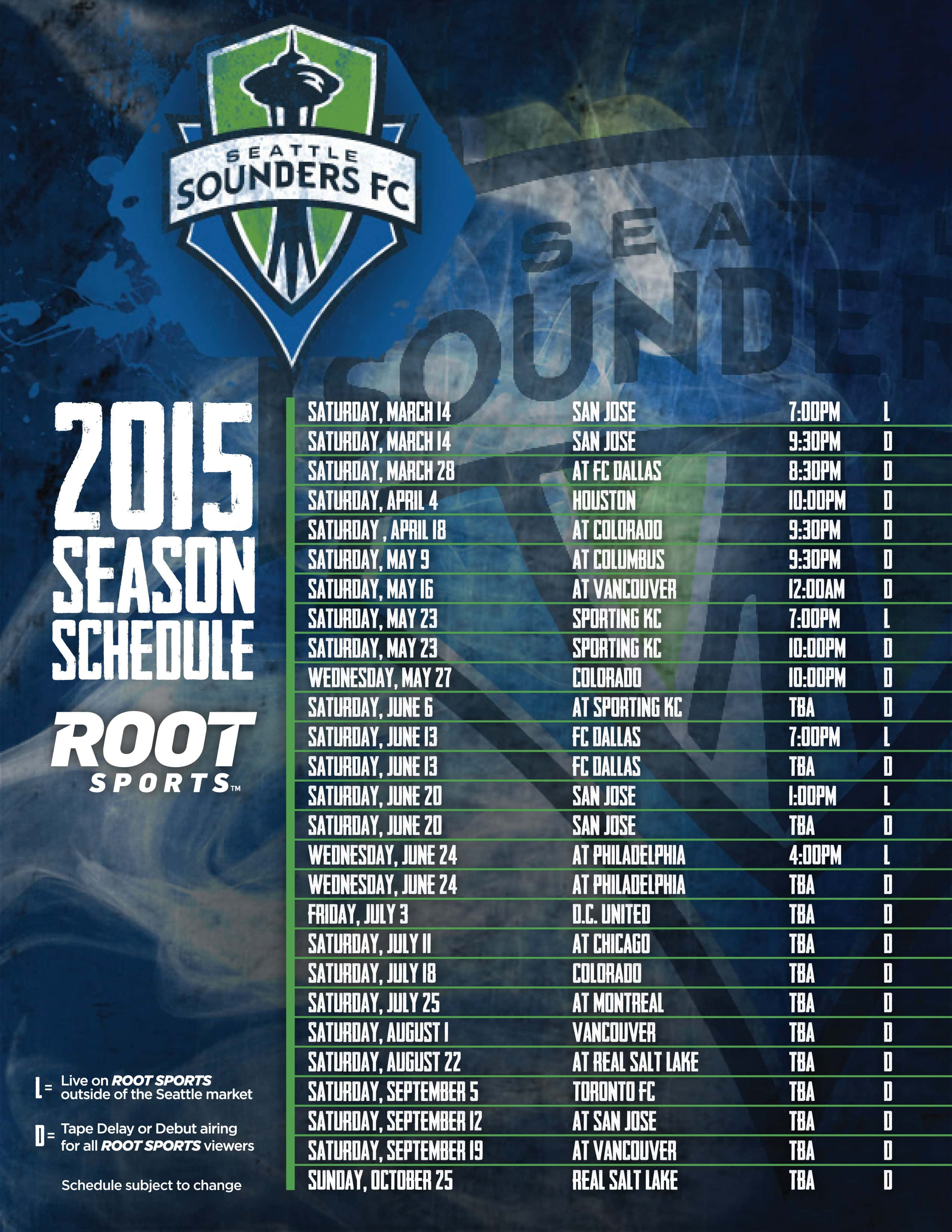 Sounders FC 2013 Schedule Announced by MLS | Seattle Sounders FC