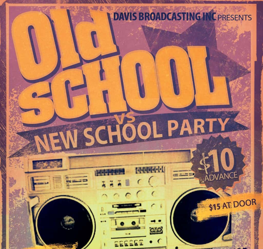 Old School vs. New School Party - March 13th