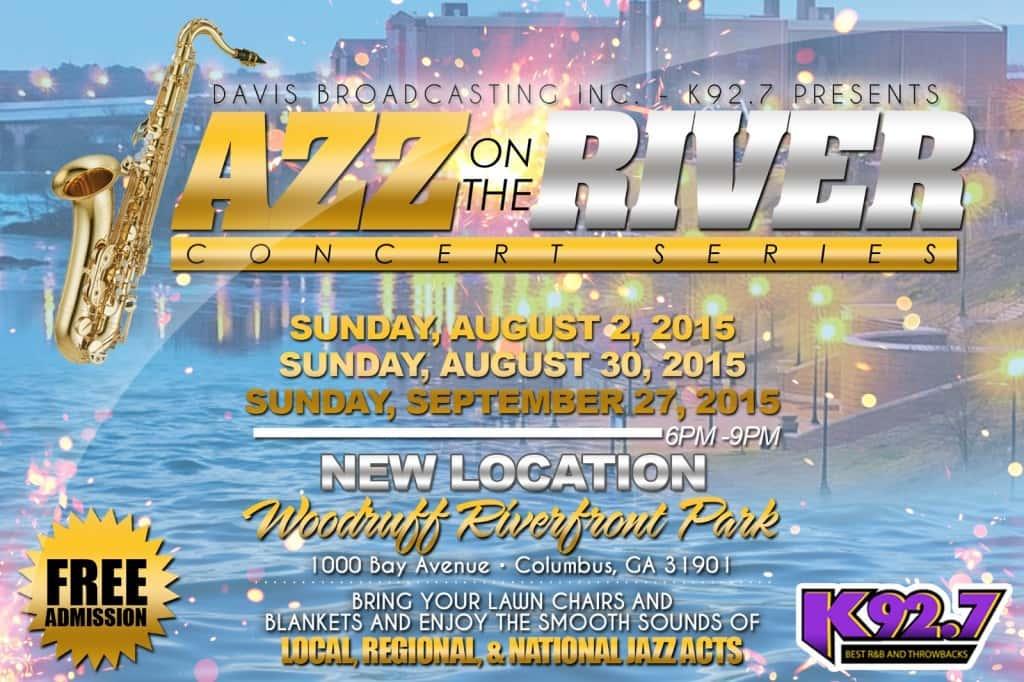 Jazz on the River- Aug. 2- Woodruff Riverfront Park 6 pm