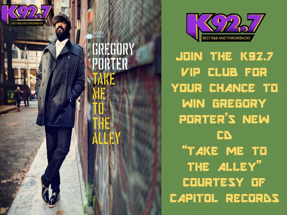 WIN THE NEW GREGORY PORTER CD