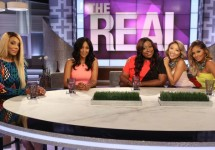 """This photo released by Warner Bros. shows, from left, Tamar Braxton, Tamera Mowry-Housley, Loni Love, Jeannie Mai, and Adrienne Bailon during the premiere episode of the new TV show, """"The Real."""" The Warner Bros. show premieres on Monday, Sept. 15, 2014. (AP Photo/Warner Bros., Patrick Wymore)"""
