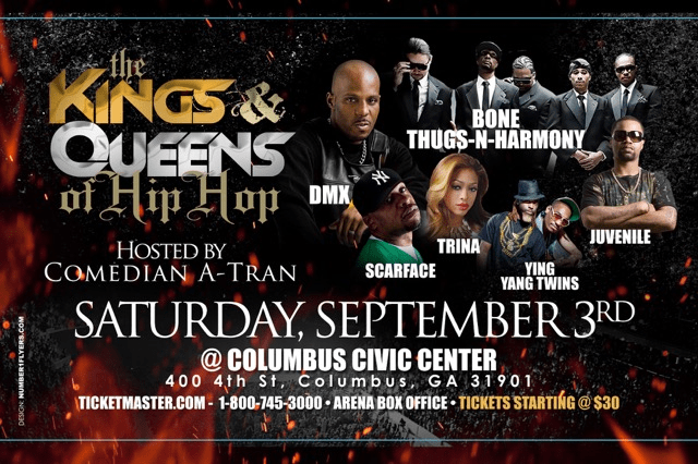 Kings and Queens of Hip Hop- Sat Sept 3, 2016