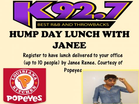 WIN LUNCH WITH JANEE & POPEYES