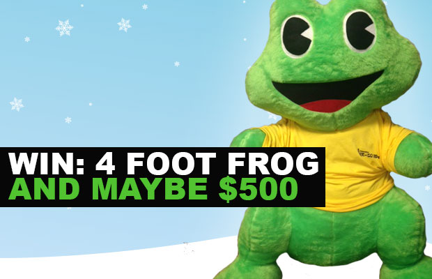 Win a 4 Foot FROG | Be...