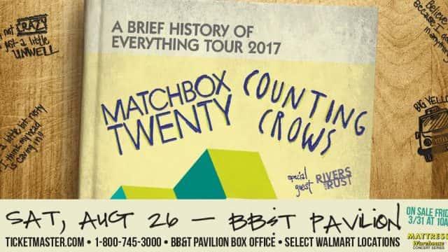 Matchbox Twenty & Counting Crows At BB&T Pavilion 8/26