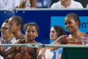 Michelle & Sasha Obama attend Beyonce & Jay-Z concert