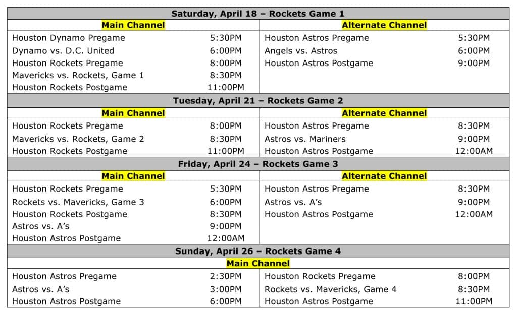 ROOT-SPORTS-Announces-Houston-Rockets-First-Round-Schedule