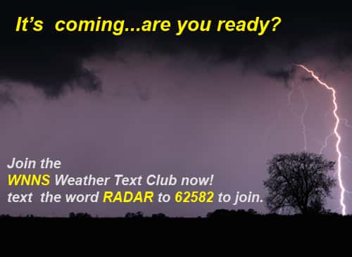 Join The WNNS Weather Text Club