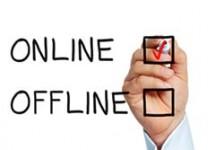 online off line