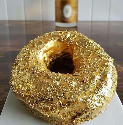 Golden Cristal Ube Donut