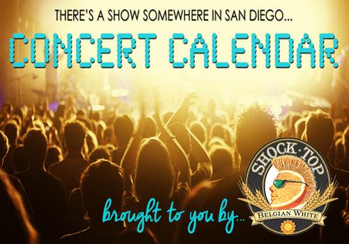 San Diego Concert Calendar