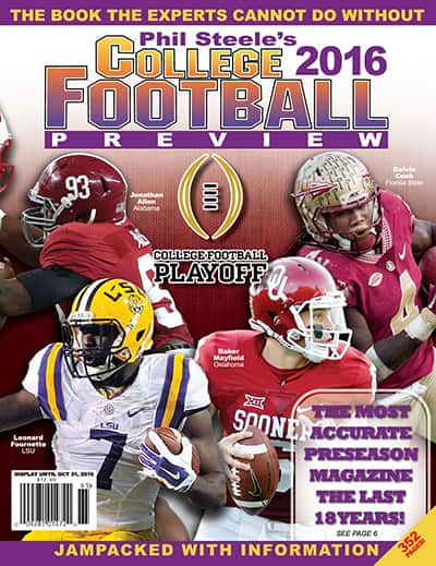 Phil Steele CFB Preview Magazine - 2016 Cover 2