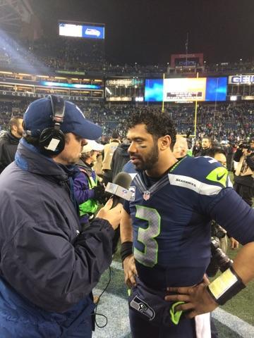 Scott Kaplan interviewing Russell Wilson