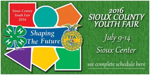 Sioux County Fair Banner 2016