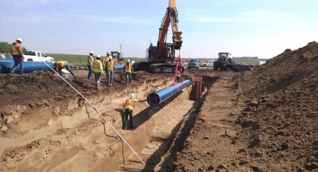 First section of 24 inch steel pipe