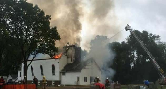 Sacred Heart Church Fire