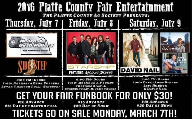 2016 Platte County Fair Acts