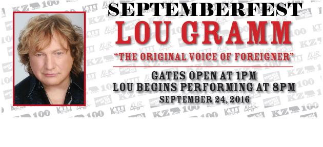 Lou Gramm Ticket