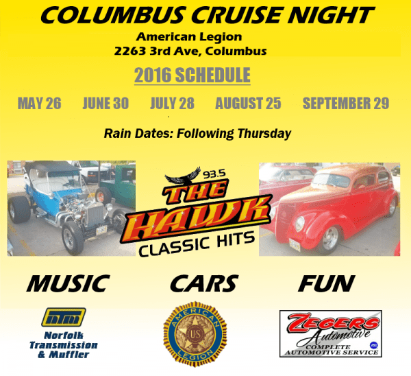 Cruise Night Promo Poster 2016 Mockup Bigger WITH SPONSORS