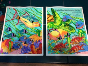 Carrol Swayze finished coloring books