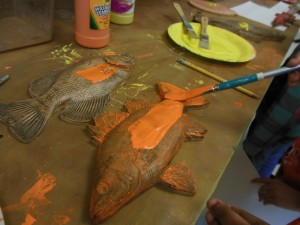 fish painting orange
