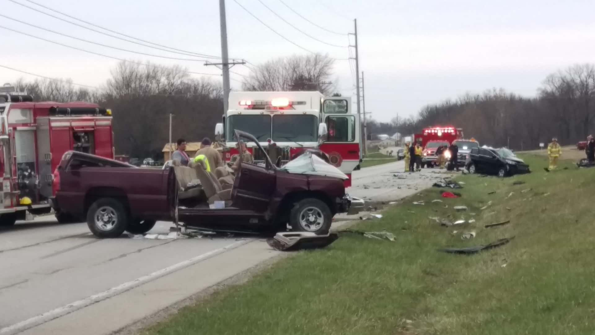 Drivers flown from accident scene, minor injuries for children in ...