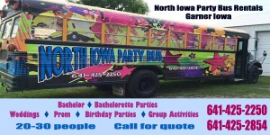 North Iowa Party bus web ad copy