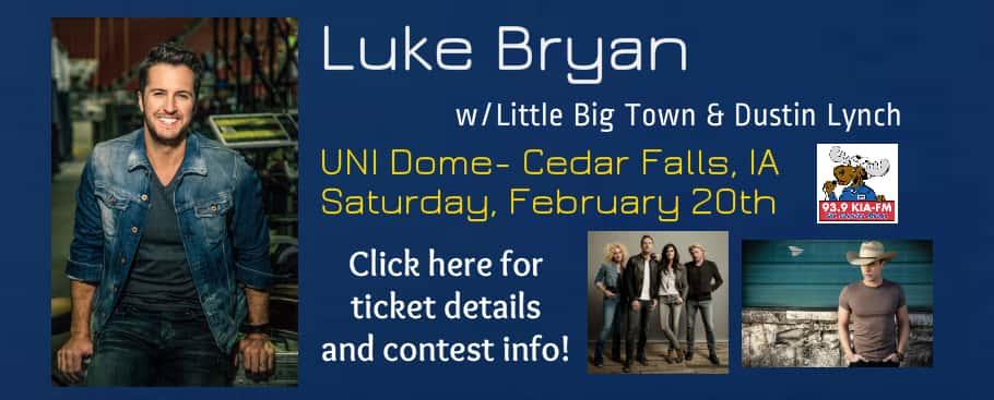 Luke Bryan UNI Dome Banner
