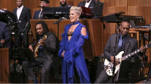 Pink's 10-month-old son Jameson is not a fan of her music