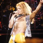 Dave Lee Roth of Van Halen at Rainbow Theatre London 1979