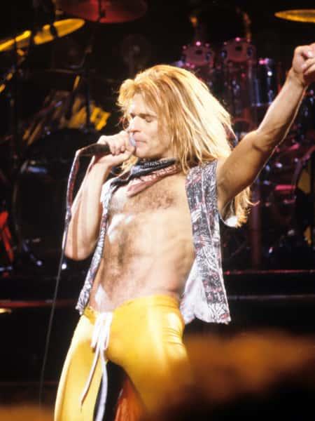 Dave Lee Roth of Van Halen at Rainbow Theatre London 1979