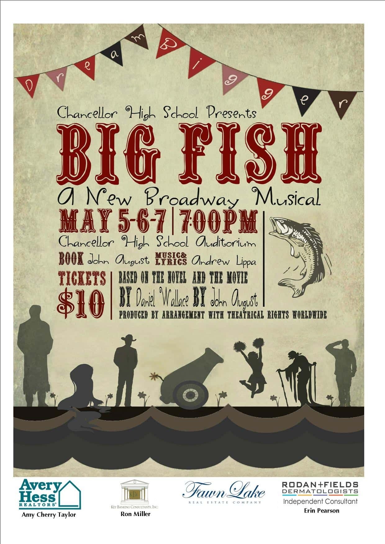 Chancellor high school present big fish the musical for Big fish musical soundtrack