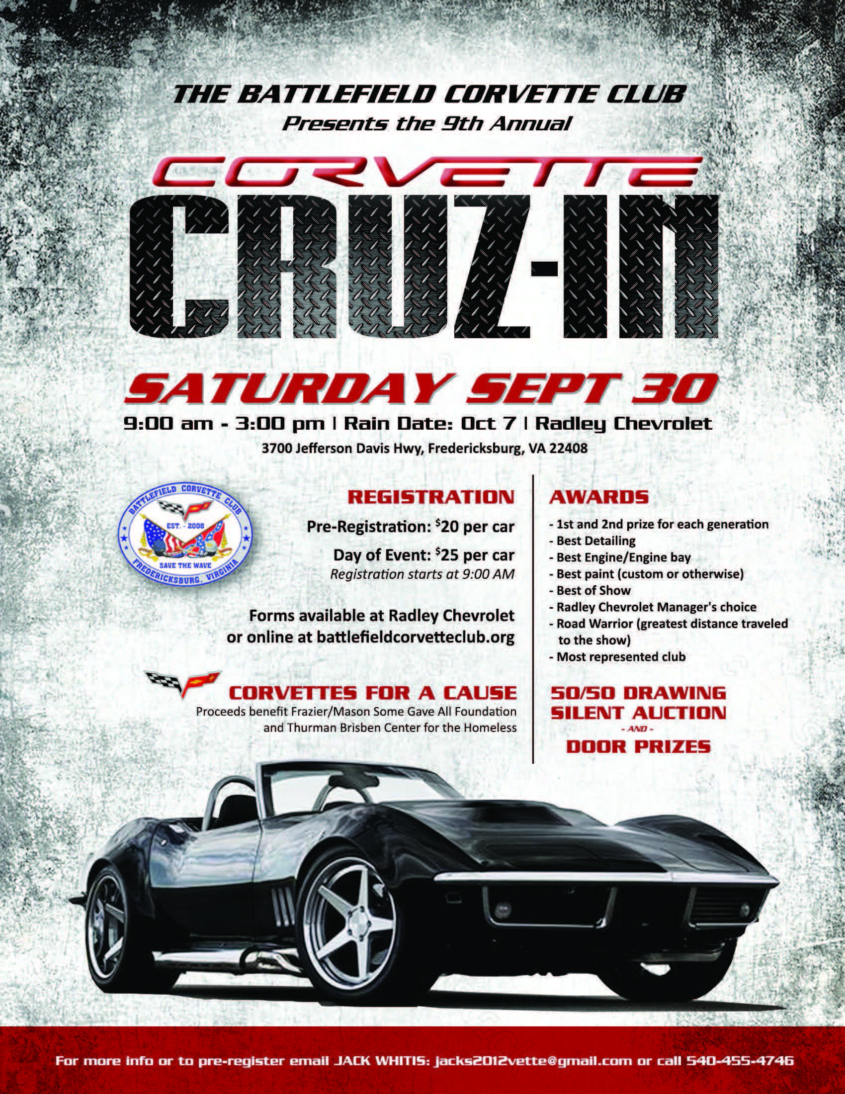 "Battlefield Corvette Club, 9th Annual ""All Corvette"" Charity Car ..."