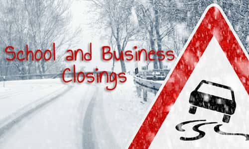 school and business closings There are no current closing alerts please check back later there are no current closing alerts please check back later there are no current closing alerts.