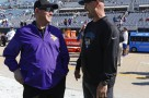 Minnesota Vikings head coach Mike Zimmer, left, and Jacksonville Jaguars head coach Gus Bradley greet each other before an NFL football game, Sunday, Dec. 11, 2016, in Jacksonville, Fla. (AP Photo/Stephen B. Morton)