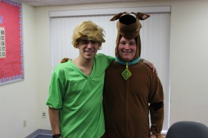 For Duo Day on Wednesday, Colton Lullman made a great Scooby Doo to Mark Bruck's Shaggy.