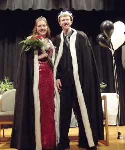 Queen Riley Lenhart and King Josh Demers