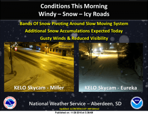 Snow wind in the forecast for today audio watertown radio for Webster sd fishing report