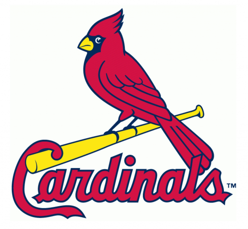 Cardinals on Bat Logo