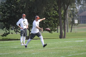Dan Bailey of the Dallas Cowboys and Sam Koch of the Baltimore Ravens