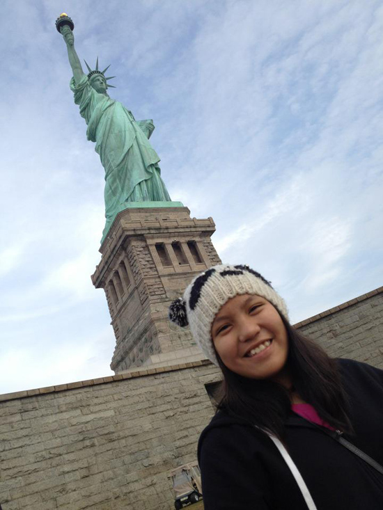 Kylie during her 2012 W.E.S. East Coast Trip!