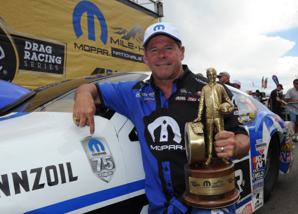 With his dominating win at the Mopar Mile-High NHRA Nationals, t