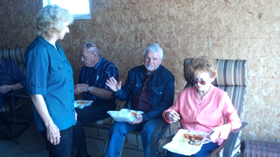 Guests enjoy see the farmer food from Sparky's one stop in Jefferson Iowa!