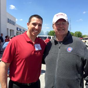 Mike Devine and Matt Campbell, ISU Football Head Coach.