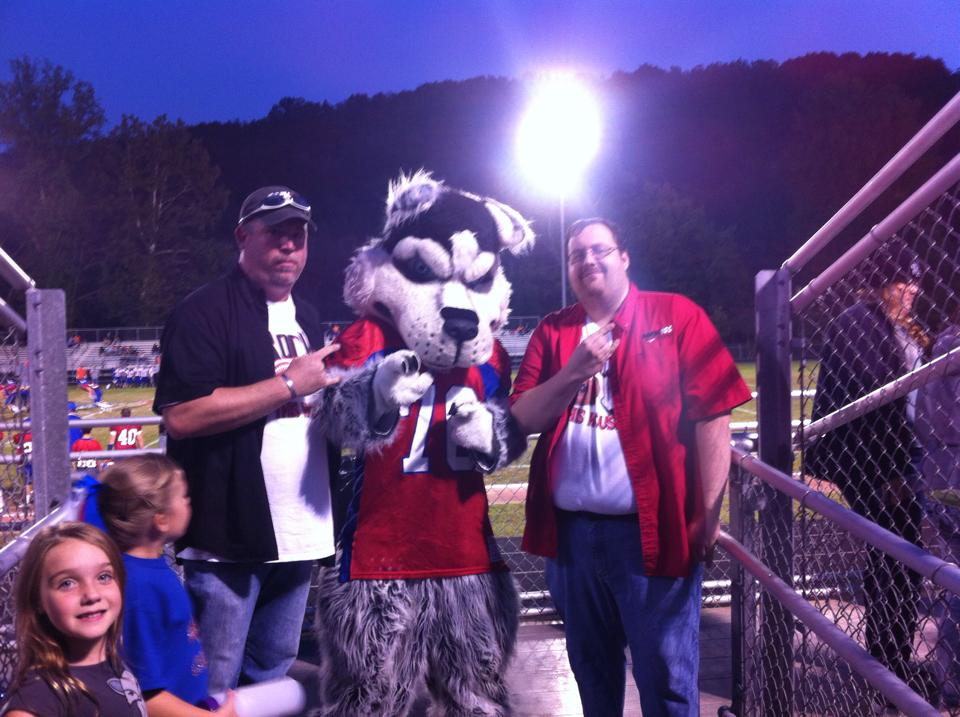 ...and Dave and Jammie with the Herbert Hoover Mascot also on 09-19