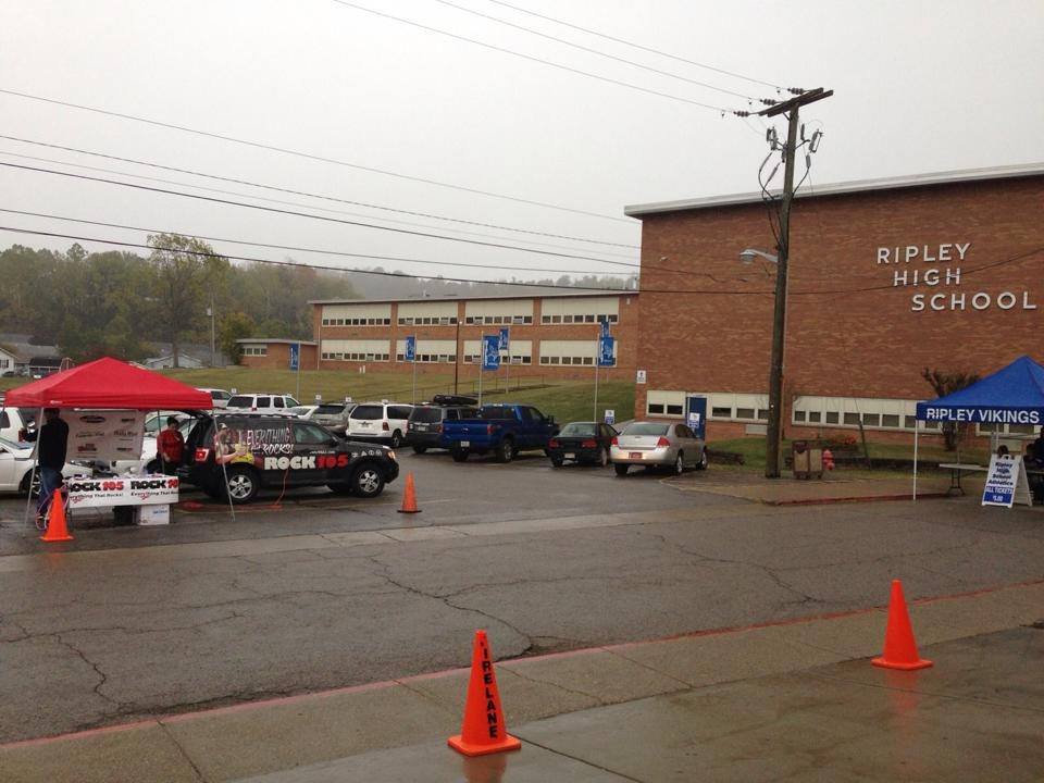 Here's us at Ripley High on 10-03