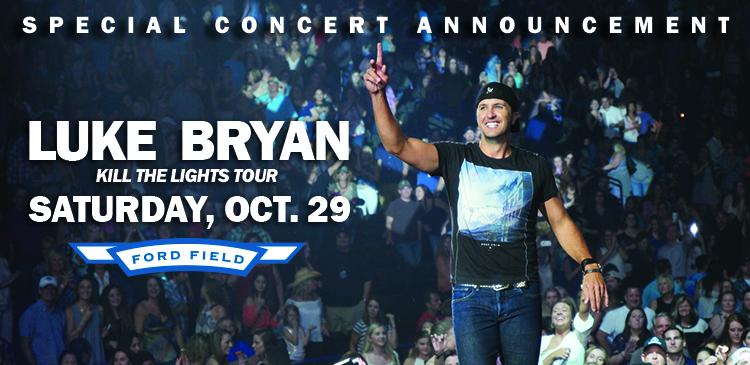 Concert Announcement: Luke Bryan @ Ford Field