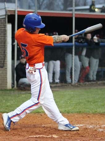 Blake Johnson's triple in the 4th inning scored the Marshals 7th run of the game.
