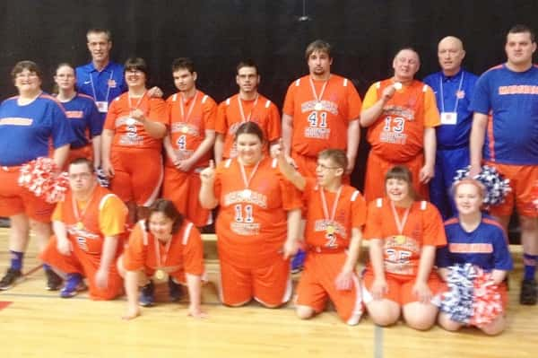 The Marshall 1 team celebrated their State Championship in the B1 Division at the Special Olympics State Tournament in Louisville.