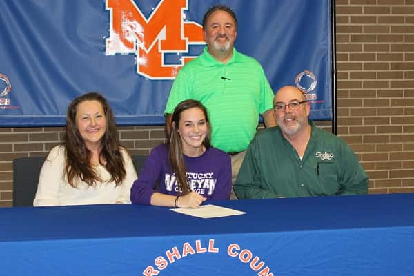 Sydney Goff was joined by her parents Leah and Keith, along with Marshall County girl's track Head Coach Cory Westerfield, at Thursday's signing.